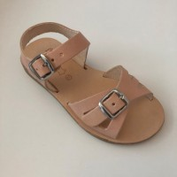 420-V Nude Leather Open Toe Sandal